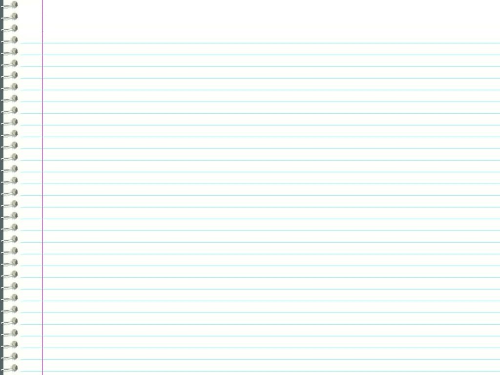 Wide NoteBook Paper Background