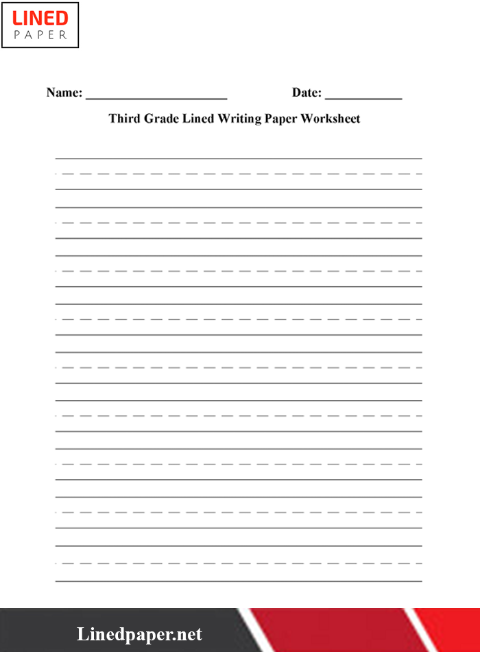 Blank Lined Handwriting Paper