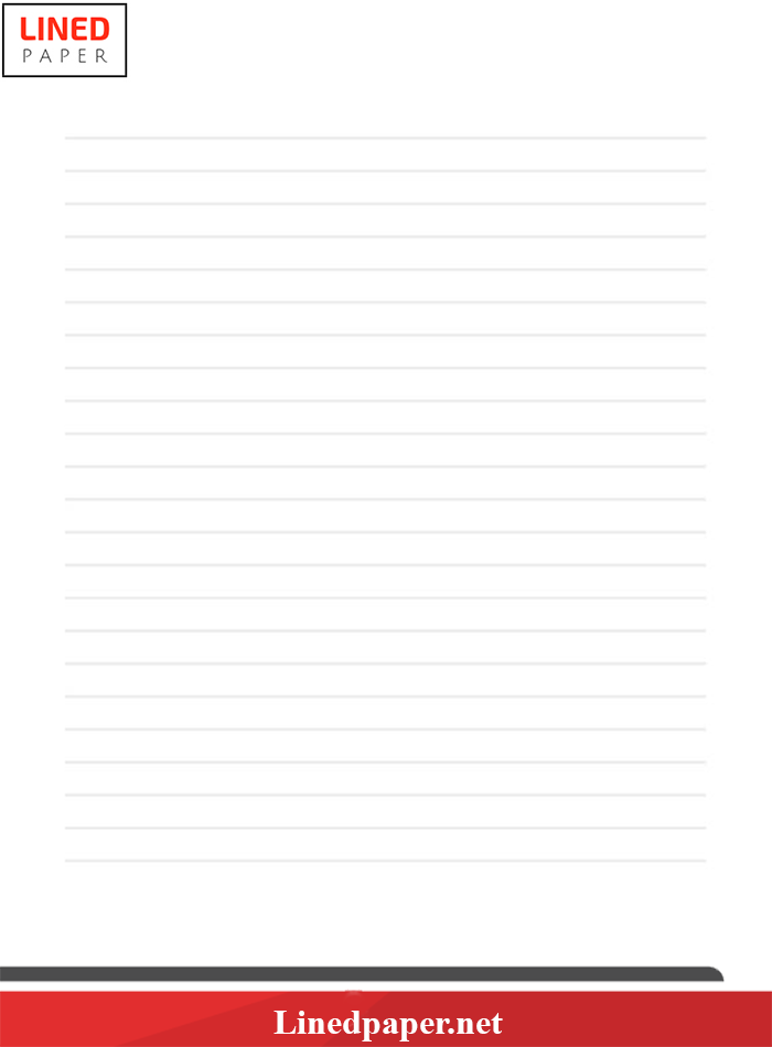 picture regarding Free Printable Lined Writing Paper titled Coated Paper