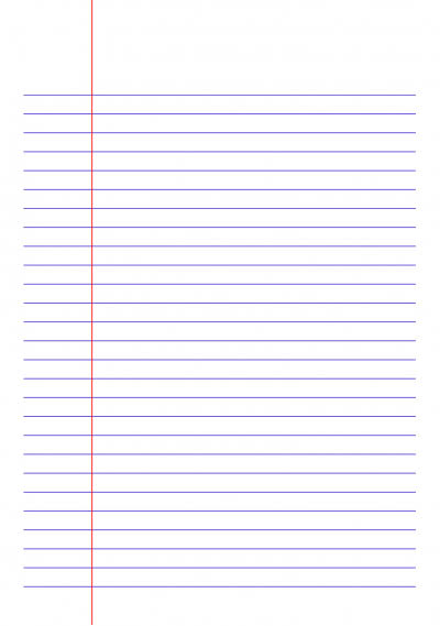 Narrow Lined Paper A4