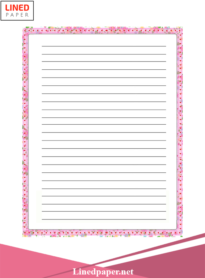 Free Lined Paper With Border
