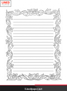Lined Paper Template With Border