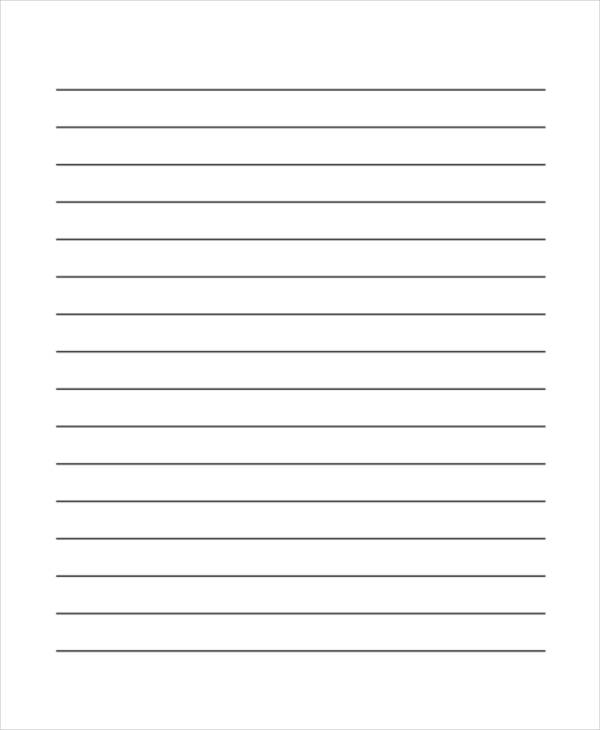 Wide Lined Paper