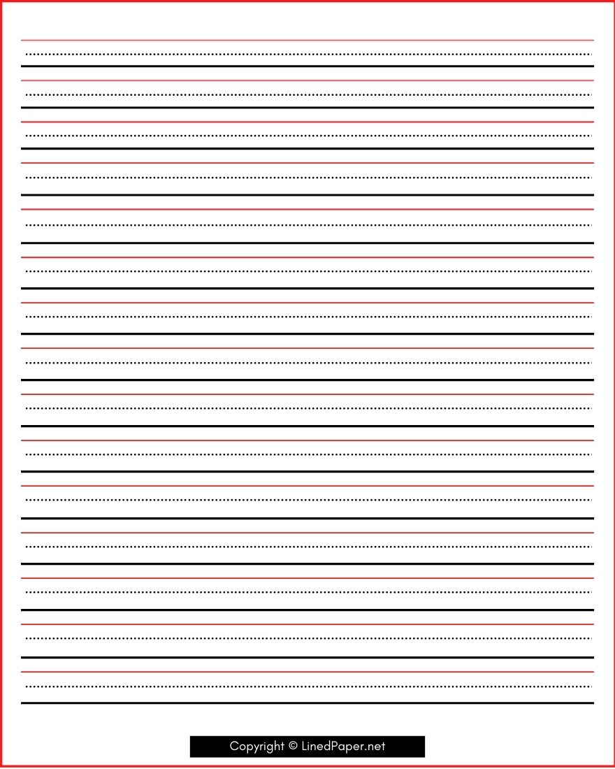 Printable Cursive Writing Lined Paper